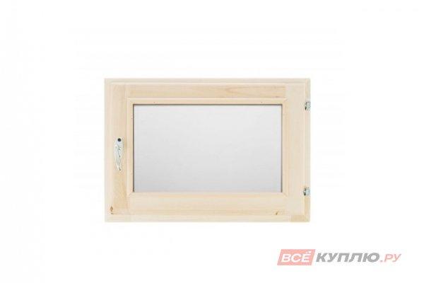 Блок оконный 400*600 мм (однокамерный стеклопакет) Липа