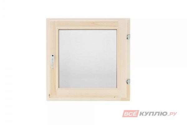 Блок оконный  600*600 мм (однокамерный стеклопакет) Липа