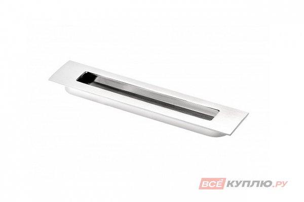 Ручка врезная мебельная UZ-E6-160-01 хром