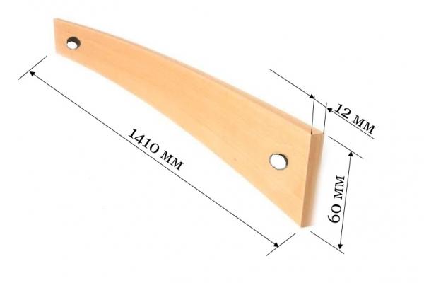 Ламель для французской раскладушки 1410*60*12 мм