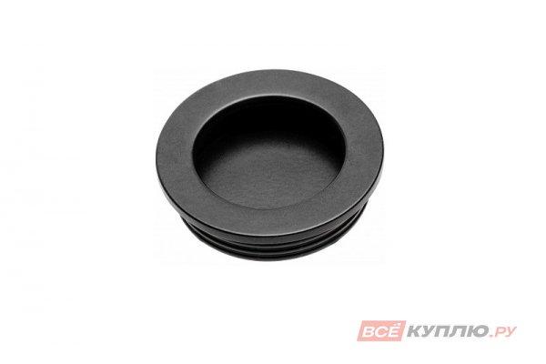 Ручка врезная мебельная круглая D-40 мм UZ В224 черный