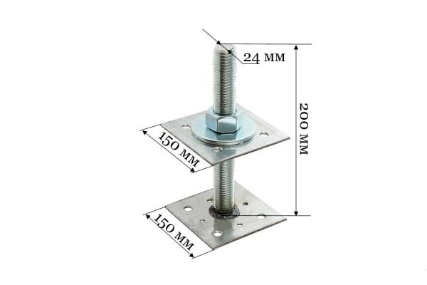 Анкер регулировочный по высоте ARH 24*150 мм
