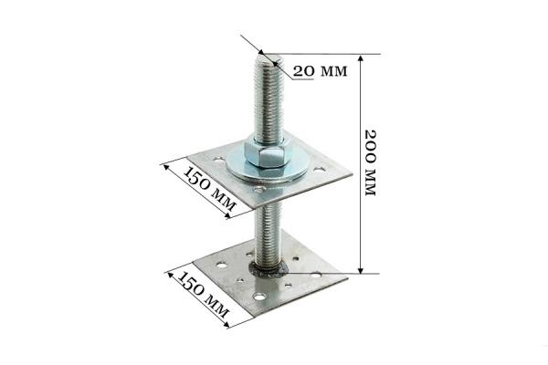 Анкер регулировочный по высоте ARH 20*150 мм