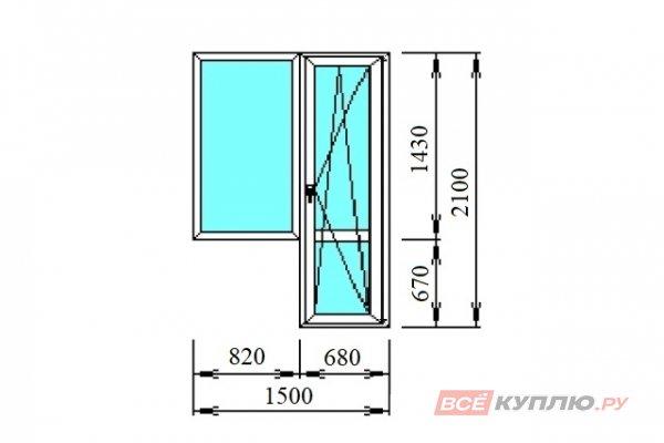 Блок балконный 1500*2100 мм