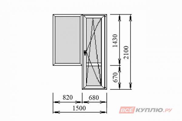 Блок балконный Deceuninck 1500*2100 мм
