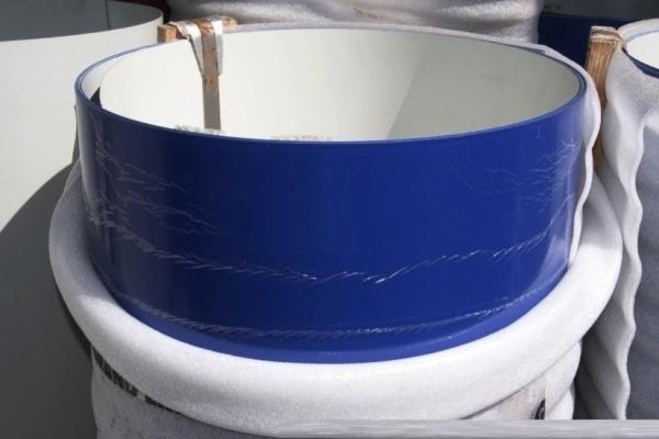 Лист окрашенный плоский 0,45 мм 1250*2500 мм синий (RAL5002)