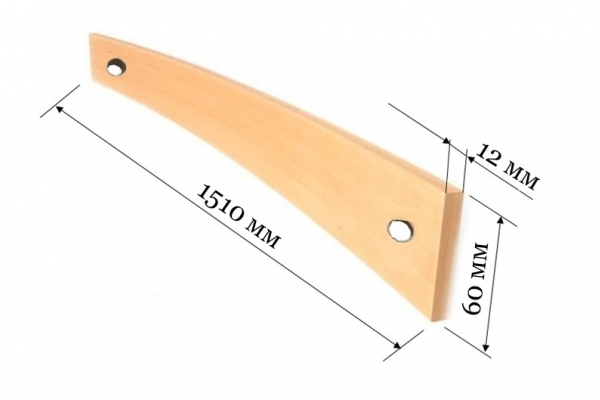 Ламель для французской раскладушки 1510*60*12 мм