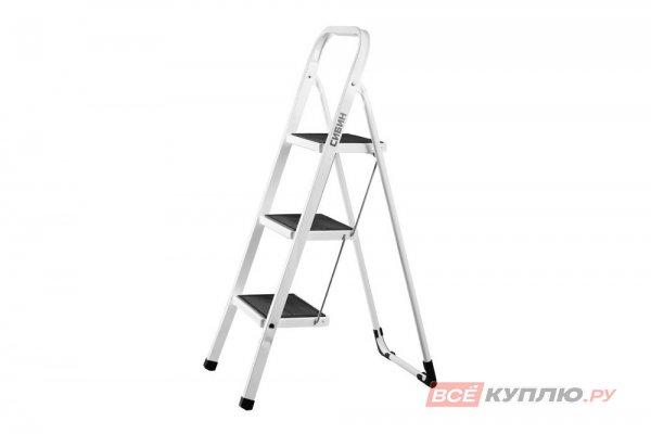 Лестница-стремянка СИБИН стальная c широкими ступенями 3 ступени (38807-03)