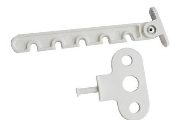 Ограничитель открывания с ответной частью металл белый