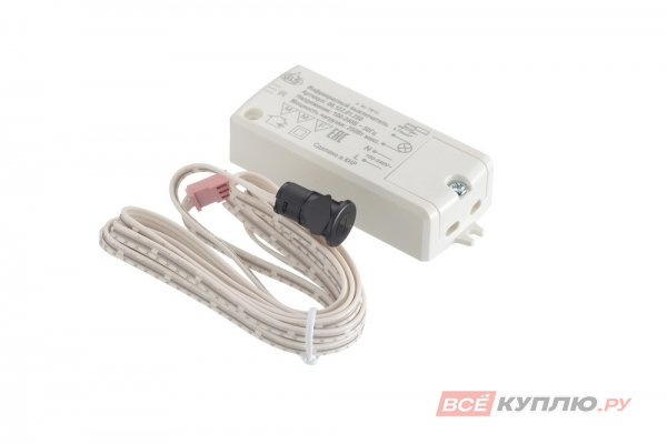 Выключатель датчик на взмах руки ИК РМ 218С, мах 5 см, 220В, max 250 Вт, D датчика 14 мм (15006)