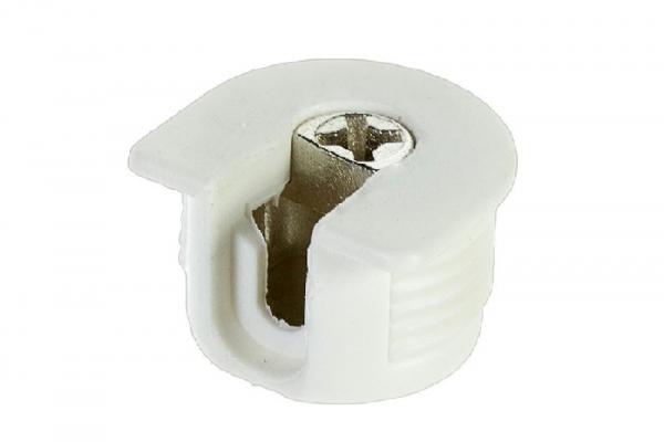 Стяжка эксцентриковая мебельная VB 35MD/16 мм белая Hettich