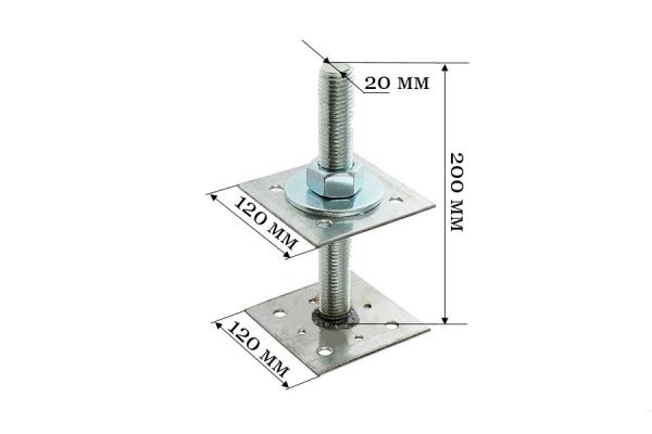 Анкер регулировочный по высоте ARH 20*120 мм