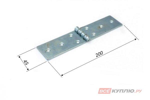 Петля Кунгур карточная 200x45 цинк (3238)