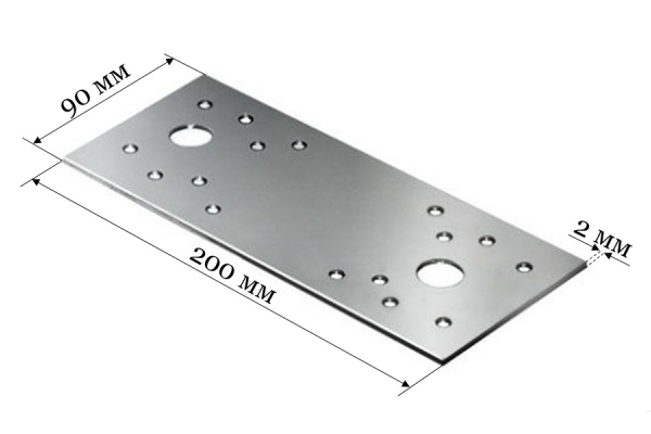 Пластина крепежная KP 200*90*2 мм