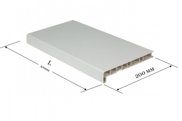 Подоконник ПВХ 200 мм Window System белый