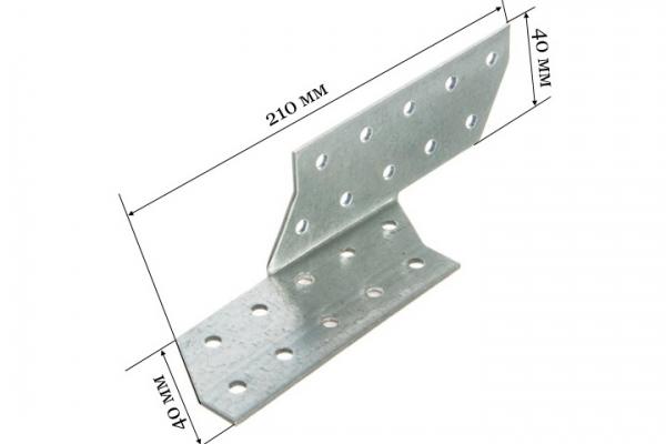 Держатель балки DB-П 210*40*40 мм (Правый)