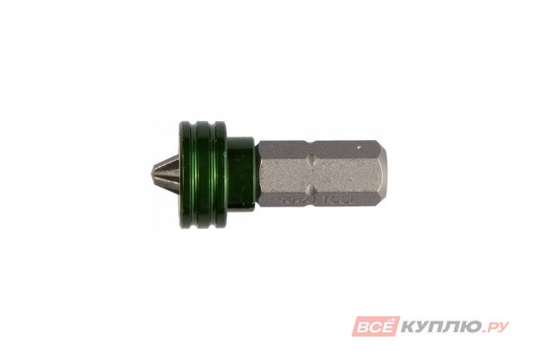 """Бита с магнитным держателем-ограничителем KRAFTOOL """"ЕХPERT"""" С 1/4"""", PH2, 50 мм, 1 шт (26128-2-25-1)"""