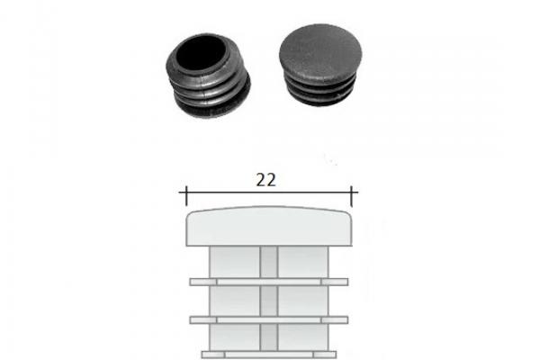 Заглушка ПВХ на круглую трубу внутренняя D=22 мм