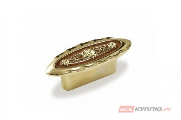 Ручка-кнопка мебельная FM-086 032 Золото/эмаль бруно Т475 (TS)