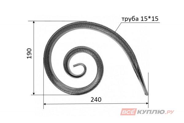Завиток 240*190 мм (труба 15*15 мм)