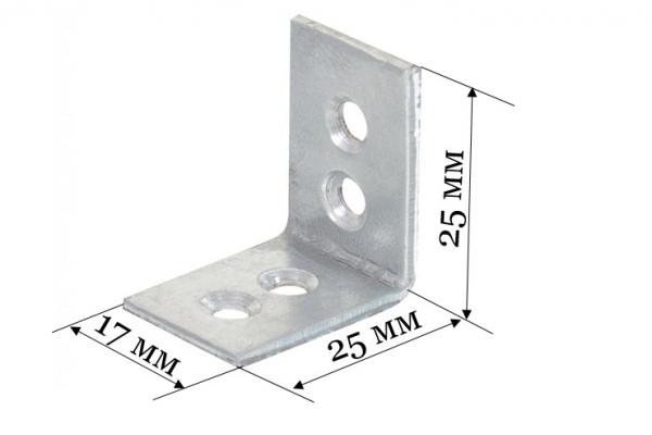 Уголок бытовой 25*25*17*2 мм