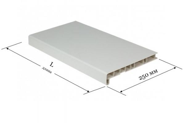 Подоконник ПВХ 250 мм Window System белый