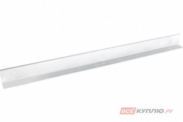Кронштейн 600 мм для крепления столешницы H38.8 мм к стене (отделка белый бархат)