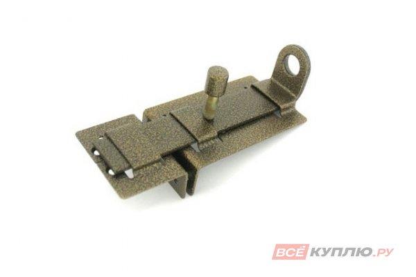 Задвижка дверная с проушиной Секрет ЗД-04 антик бронза (2837)