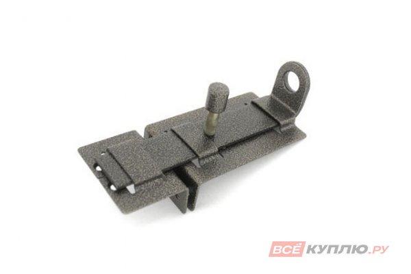 Задвижка дверная с проушиной Секрет ЗД-04 антик серебро (2838)