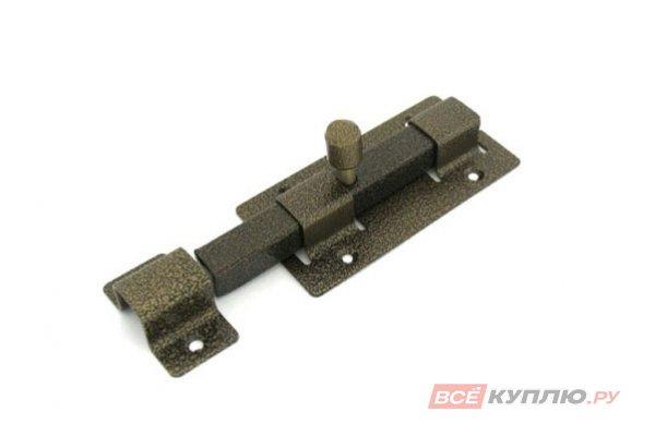 Засов дверной квадратный Секрет ЗД-06 антик бронза (2841)