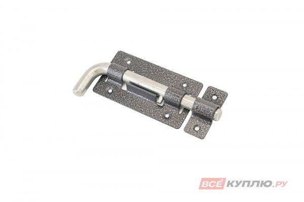 Засов дверной круглый Г-образный Секрет ЗД-03 антик серебро (2834)