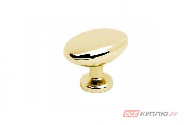 Ручка кнопка AMIX GP0903 (овал) золото