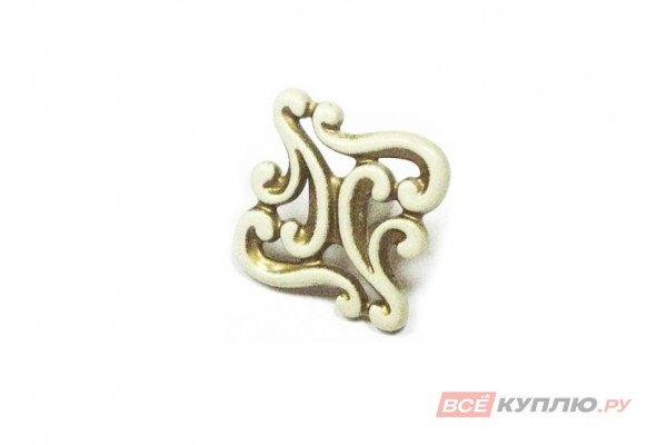 Ручка-кнопка мебельная Giusti WPO721 слоновая кость/золото