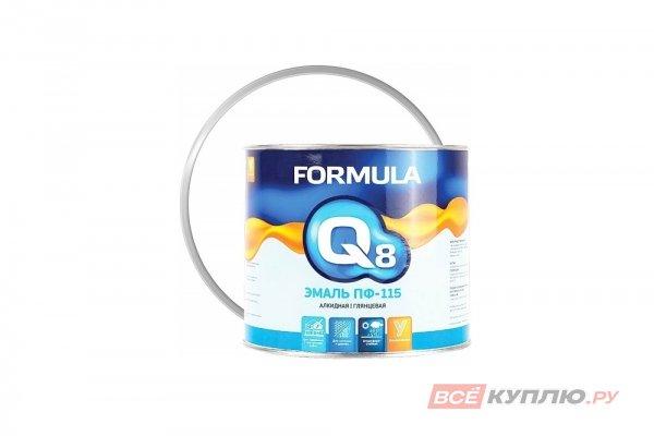 Эмаль ПФ-115 Формула Q8 белая 0,9 кг