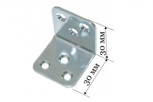 Уголок бытовой 30*30 мм цинк