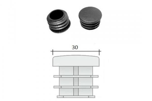 Заглушка ПВХ на круглую трубу внутренняя D=30 мм