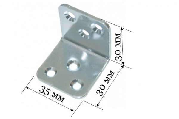 Уголок бытовой Кунгур крепежный 30*30*35*2 мм цинк