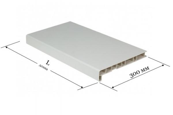 Подоконник ПВХ 300 мм белый