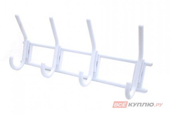 Крючок-вешалка пластмассовый 4х-крючковый Кунгур белый (3278)