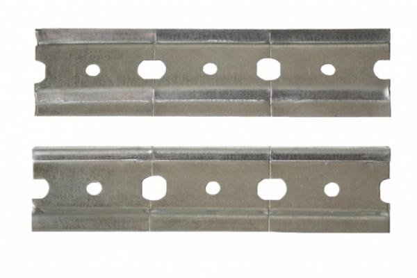 Шина для кухоных шкафов оцинкованная L-2m, толщина 33 х1,0 мм