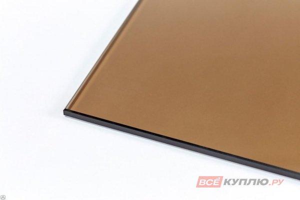Стекло бронзовое тонированное в массе 5 мм (цена за кв.м/ нарезка)