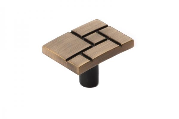 Ручка-кнопка мебельная бронза RC417 (RK-035 ВА)