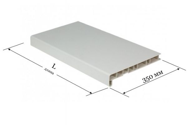 Подоконник ПВХ 350 мм Window System белый