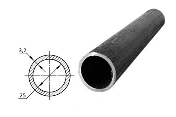 Труба водогазопроводная стальная D-внутренний 25 мм (цена за хлыст)