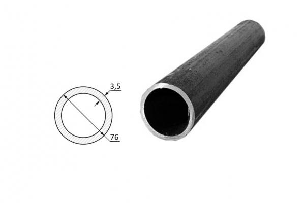 Труба электросварная стальная D-наружный 76 мм (цена за хлыст)