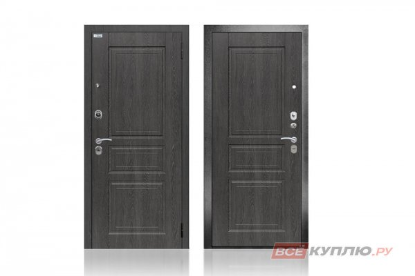 """Дверь металлическая Берлога """"3К Гаральд Графит / МДФ Гаральд Графит"""""""
