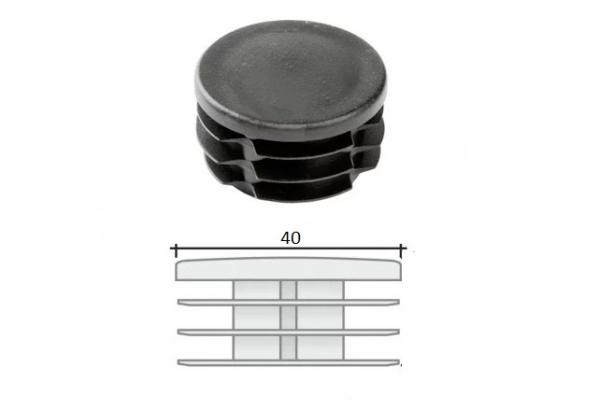 Заглушка ПВХ на круглую трубу внутренняя D=40 мм