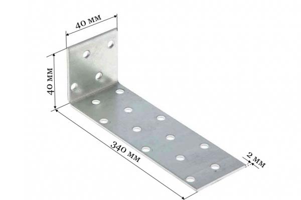 Уголок крепежный анкерный KUL 40*320*40 мм