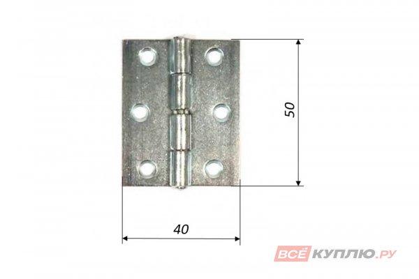 Петля Кунгур карточная 50x40 цинк (3239)