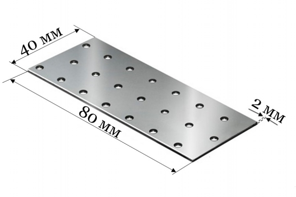 Пластина соединительная PS 40*80*2 мм